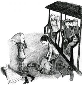barnen klär sig